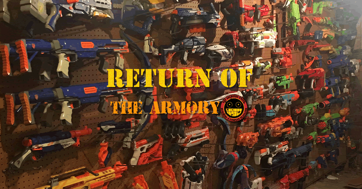 We're not selling any Nerf guns in the armory (yet)! BUT!!! The big  maintenance from yesterday has finally been concluded and the armory is ...