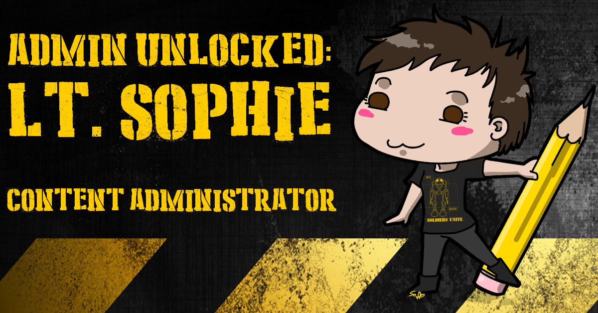 Admin unlocked: Lt. Sophie - Content Administrator