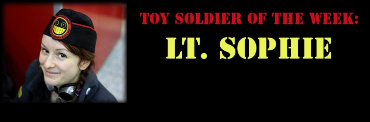 Toy Soldier of the week:  Lt. Sophie!!!