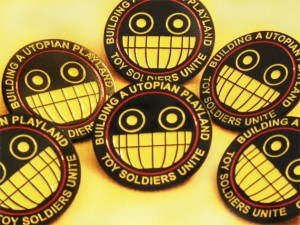 Toy Soldiers Unite Logo Pin