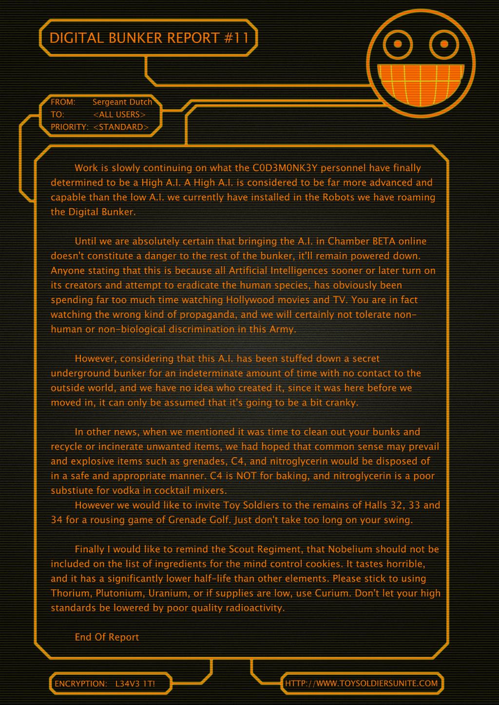 Digital Bunker Report #11