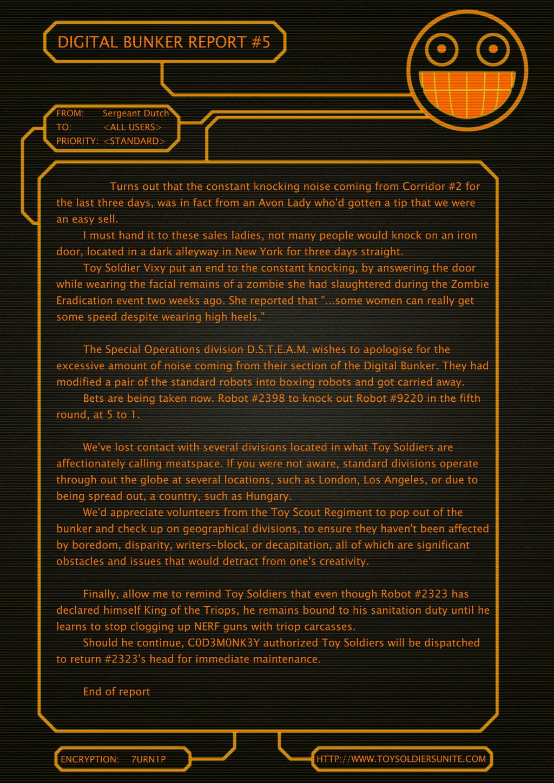 Digital Bunker Report #5